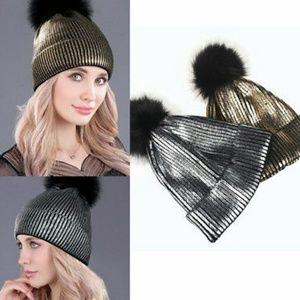 Accessories - Liquid Metallic knit hat